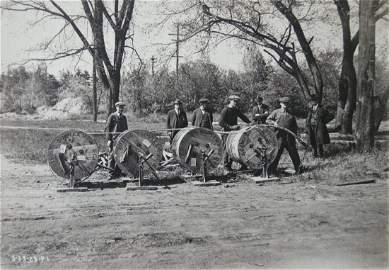 Industrial Photograph Album - Installation of telegraph