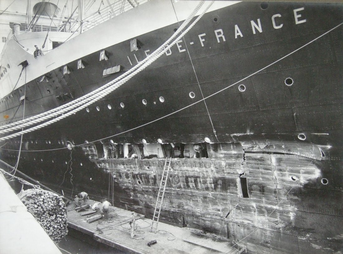 Photograph Album showing 11 days of repairs to Ocean
