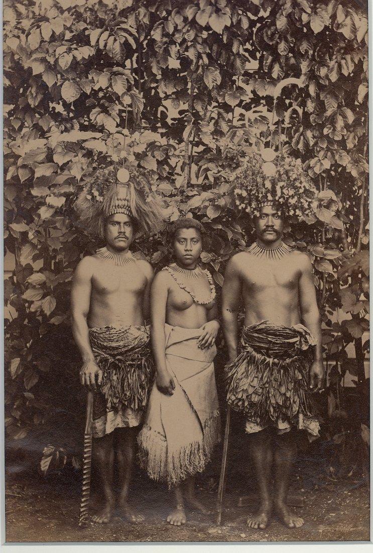 Two Samoan Chiefs amd a Wife, c1893