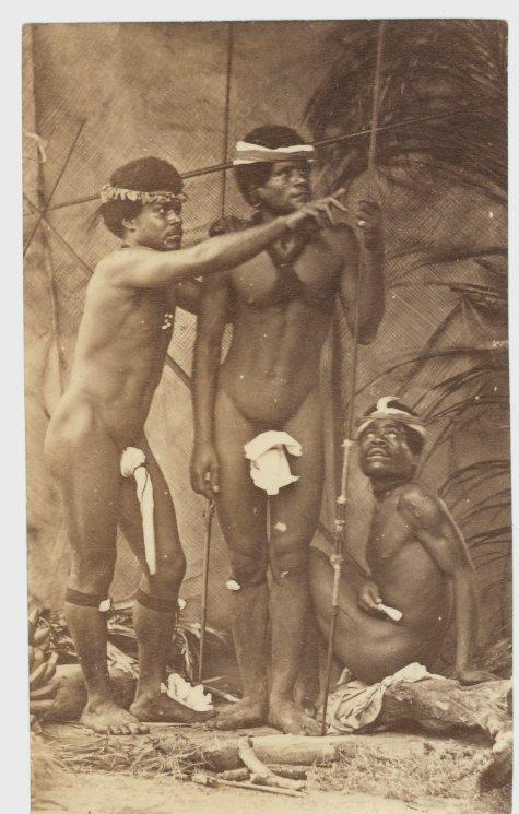 Natives of New Caledonia, circa 1880