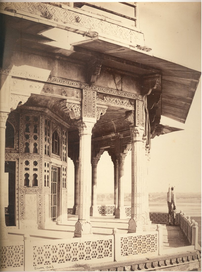Agra; The Fort, exterior of the Zenana. c1865