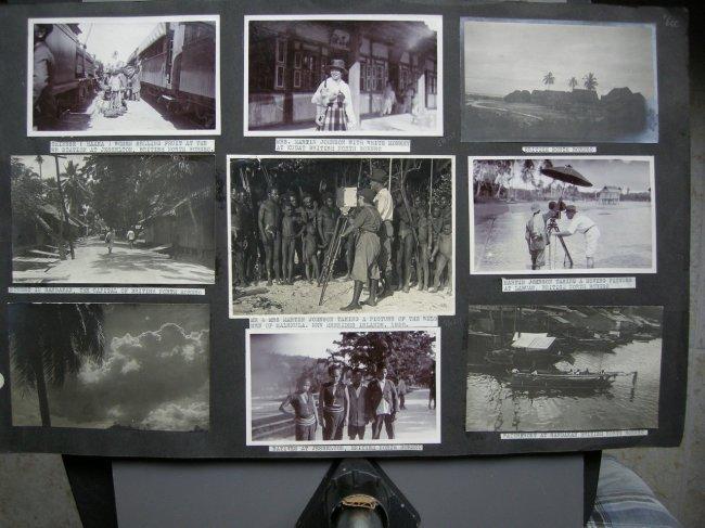 Partial photograph album of Martin & Osa Johnson in