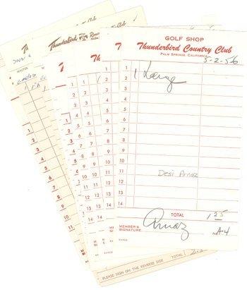 2: Desi Arnaz Signed Receipt Lot (10) GAI