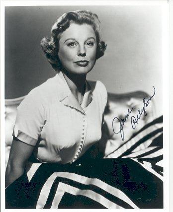 9: June Allyson Signed 8 x 10 Photograph GAI COA