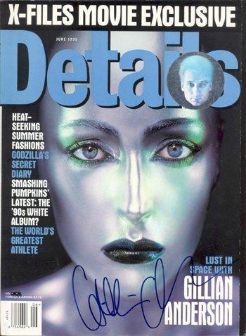 12: Gillian Anderson Signed Details Magazine GAI