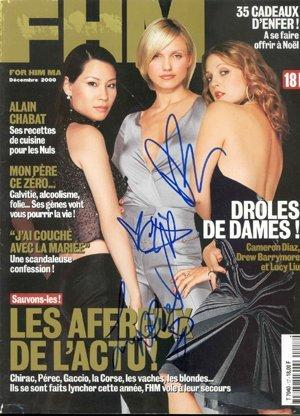 13: Charlies Angels Signed FHM Magazine GAI COA