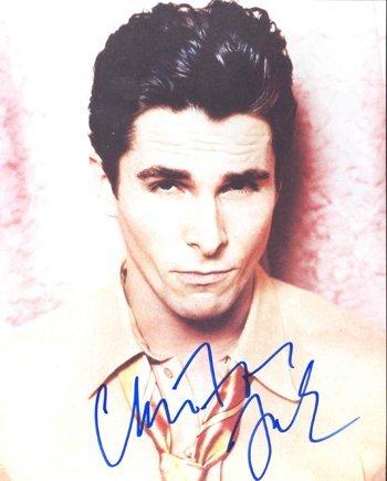 23: Christian Bale Signed 8 x 10 Photo GAI COA