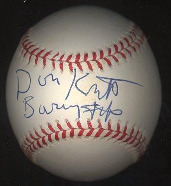 300: Don Knotts Barney Fife Signed Baseball GAI COA