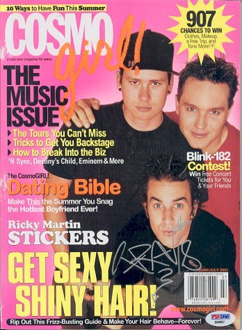 750: Travis Barker BLINK 182 Signed Magazine PSA/DNA