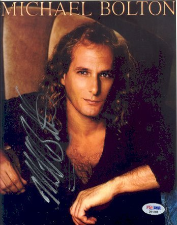 757: Michael Bolton Signed 8 x 10 Photograph PSA/DNA