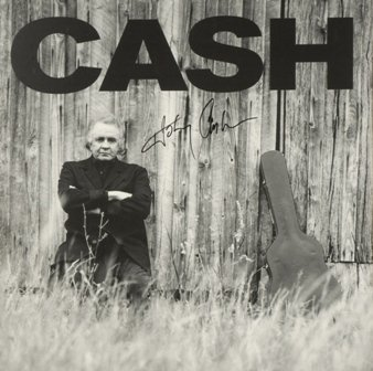 763: Johnny Cash Signed Promotional Album Flat GAI