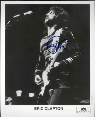 765: Eric Clapton In Person Signed Photo GAI COA