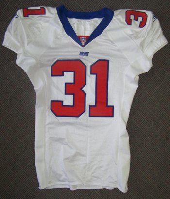 1271: Jason Sehorn Game Used Giants Jersey c.2001