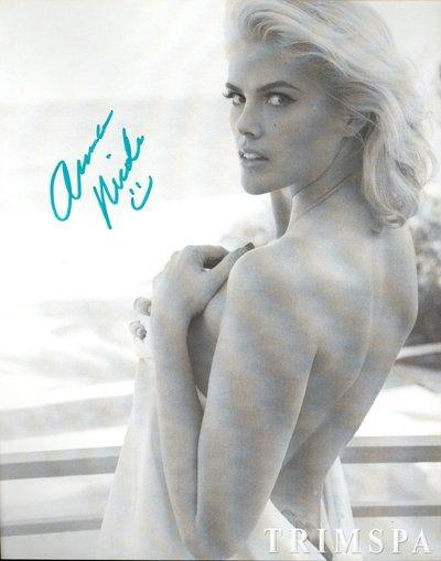5: Anna Nicole Smith Signed Trim Spa Promo Photo