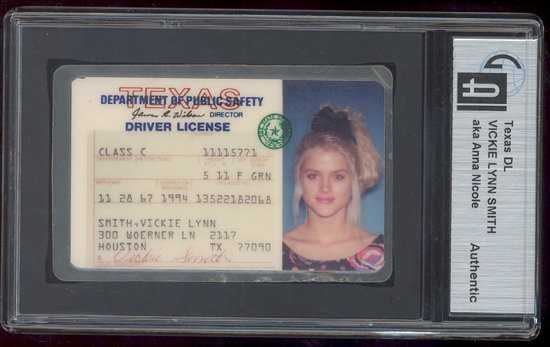 48 anna nicole smith personal texas drivers license. Black Bedroom Furniture Sets. Home Design Ideas