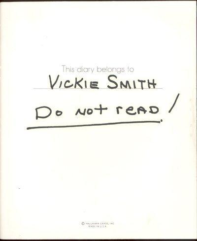 49: Anna Nicole Smith Personal 1992 Diary GAI PSA/DNA
