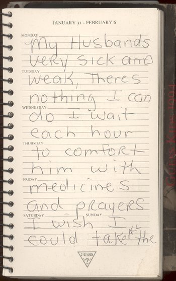 50: Anna Nicole Smith Personal 1994 Diary GAI PSA/DNA