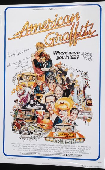 1008: American Graffiti Cast Signed Movie Poster