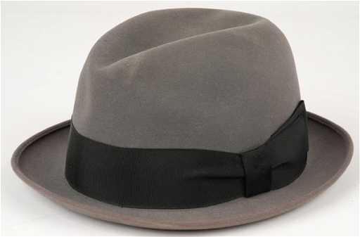 eabc74168fd05 1203  Frank Sinatra Owned   Worn Grey Fedora Style Hat