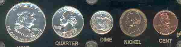 1341: 1950 U.S. Complete Proof Set (5 coins)
