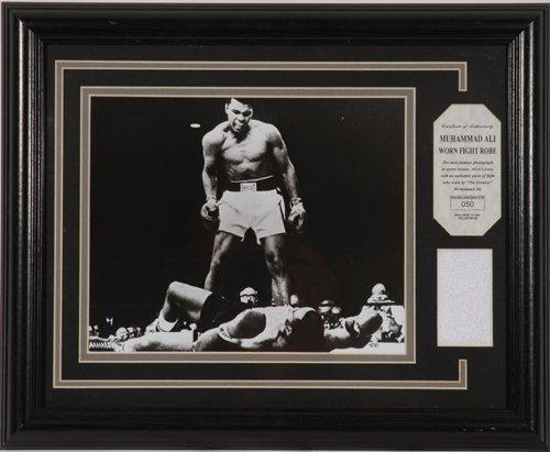 1427: Muhammad Ali Ltd. Ed. Fight Worn Robe Display