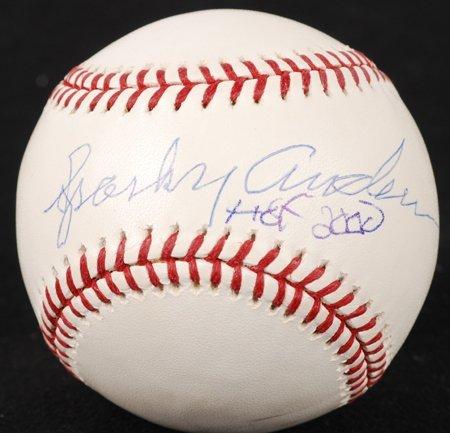 """1431: Sparky Anderson Signed """"HOF 2000"""" OML Baseball"""