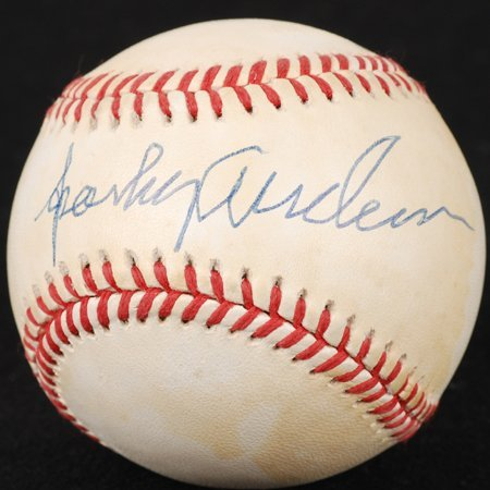 1432: Sparky Anderson Signed ONL Baseball GAI