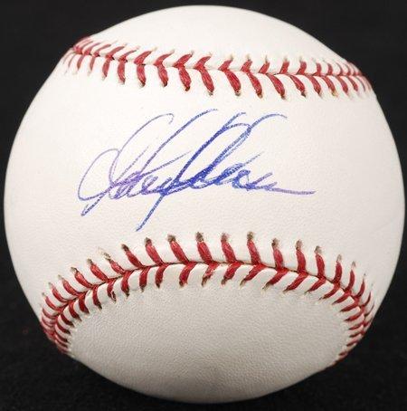 1433: Garret Anderson Signed OML Baseball GAI