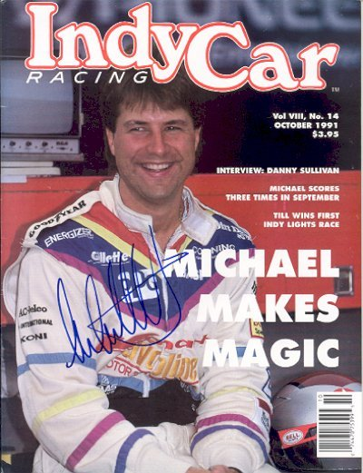 1434: Michael Andretti Signed IndyCar Racing Magazine