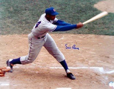 1439: Ernie Banks Signed 16 x 20 Photograph GAI COA