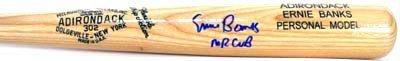 1440: Ernie Banks Signed Bat Mr Cub Inscription GAI