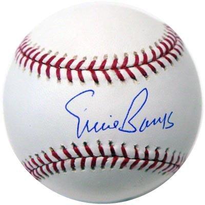 1441: Ernie Banks Signed OML Baseball GAI COA