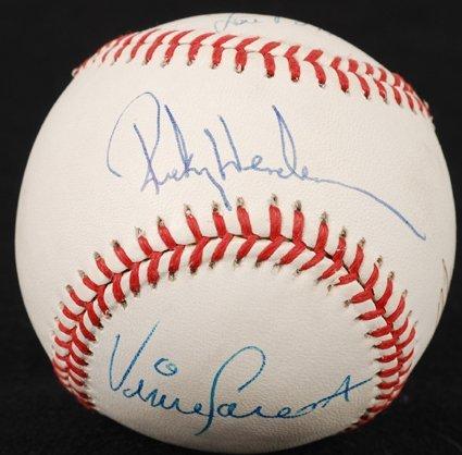 1442: Base Stealing Legends Signed Baseball PSA/DNA