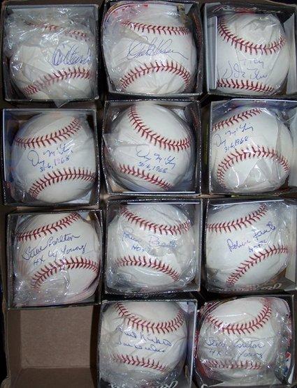1444: 23 Pitching Legends Single Signed Baseballs GAI