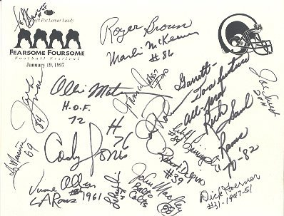 1686: Rams Fearsome Foursome Signed Group Lot (2 Items)