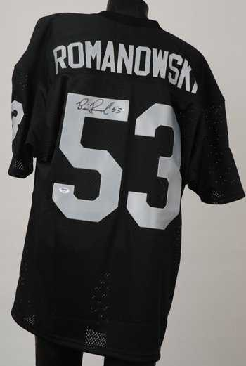 39879772b 1721  Bill Romanowski Signed Oakland Raiders Jersey