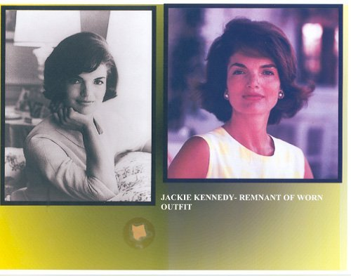 15: Jackie Kennedy Mounted Clothing Relic