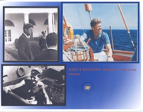 16: John F. Kennedy Clothing Relic Display