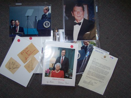21: Presidential/Political Lot Autographs Letters PSA