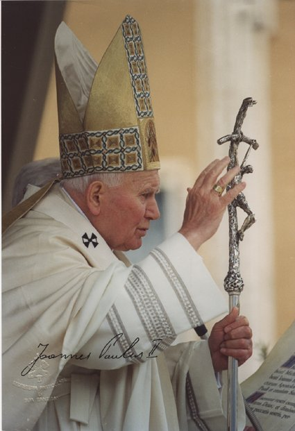 22: Pope John Paul II Rare Signed Vatican Photograph