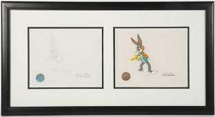 200: Chuck Jones Bugs Bunny Cel & Artwork � GAI COA