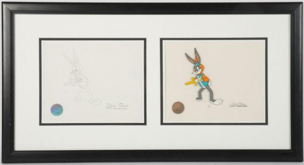 200: Chuck Jones Bugs Bunny Cel & Artwork © GAI COA