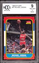 363: Michael Jordan 86-87 Fleer RC #57 BCCG 9