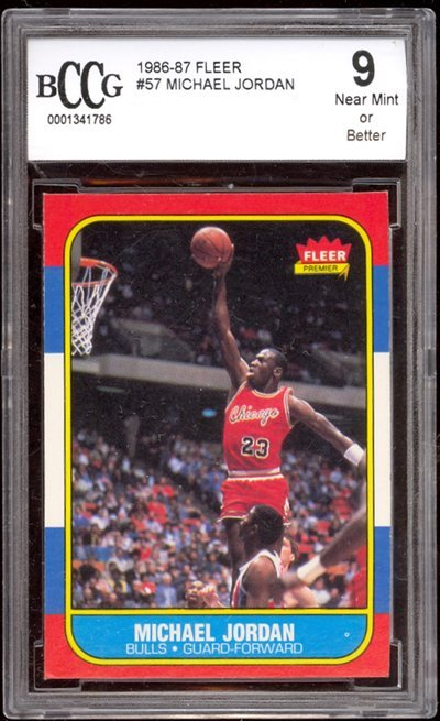 363: Michael Jordan 86-87 Fleer RC #57 BCCG 9
