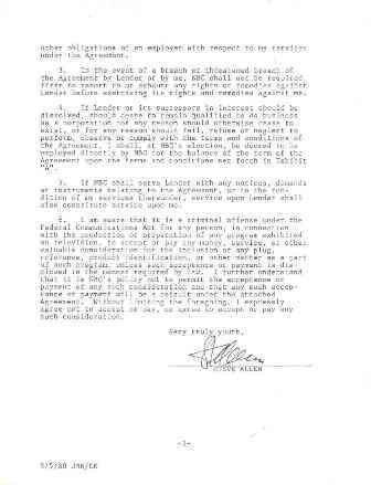 3: Steve Allen Signed Document