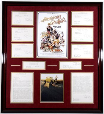 4: American Graffiti Cast Signed Contract Display