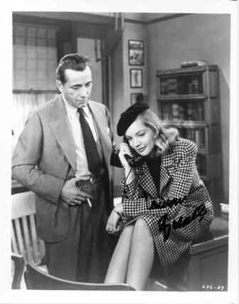 12: Lauren Bacall Signed Photo with Humphrey Bogart