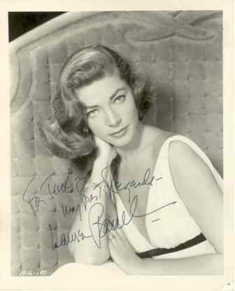 13: Lauren Bacall Vintage Signed Photograph