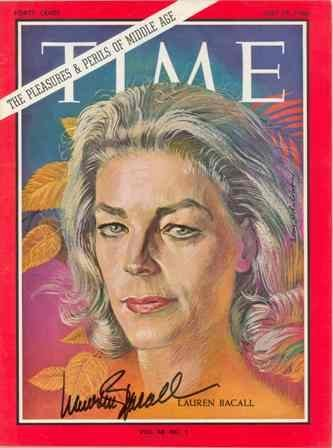 14: Lauren Bacall Signed July 1966 Time Magazine GAI