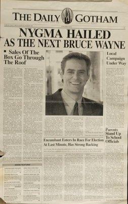 """18: """"Batman Forever"""" (1995) Jim Carrey Prop Newspaper"""